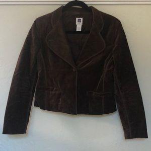 GAP brown velvet jacket